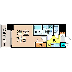 プレサンス名古屋STATIONキュオル[10階]の間取り