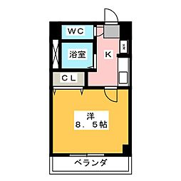 アジュール下中野[6階]の間取り