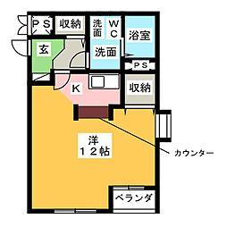 FLAT・T[1階]の間取り