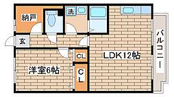 兵庫県神戸市長田区滝谷町1丁目の賃貸アパートの間取り