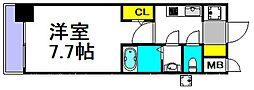 S-RESIDENCE三国 9階1Kの間取り