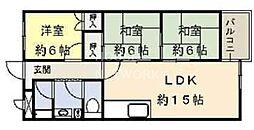 インペリアル京都[1002号室号室]の間取り