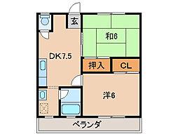 すみれマンションIII[2階]の間取り