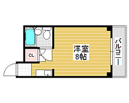 eight court宿院[1階]の間取り