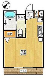 アンベリール戸塚[1階]の間取り