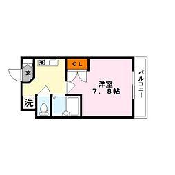 ハイツ宮の森2番館[4階]の間取り