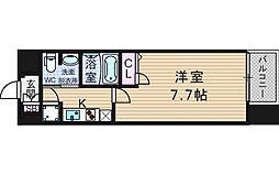 レジュールアッシュ南堀江[4階]の間取り
