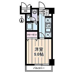 パストラーレ三ノ輪[3階]の間取り