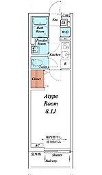 名古屋市営名城線 志賀本通駅 徒歩3分の賃貸マンション 3階1Kの間取り