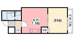シャルム甲子園2番館[303号室]の間取り