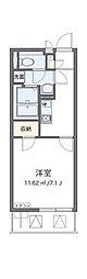 京阪本線 香里園駅 徒歩18分の賃貸マンション 2階1Kの間取り
