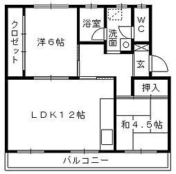 第一パークサイドマンション[203号室]の間取り