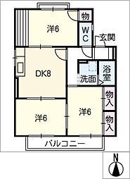 ピューラー平芝B[2階]の間取り