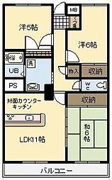 NoaHome神宮[302号室]の間取り