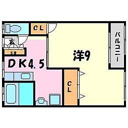 メゾン甲子園六番町[4階]の間取り