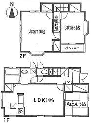 [一戸建] 神奈川県厚木市妻田東3丁目 の賃貸【/】の間取り