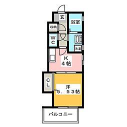 ローズモント・フレア博多[2階]の間取り