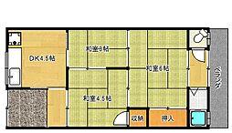 [テラスハウス] 大阪府大東市南郷町 の賃貸【/】の間取り