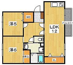 バンブーハイム[2階]の間取り