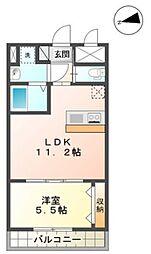 グランディール横濱[605号室]の間取り