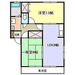 サンシャイン川田B棟[2階]の間取り