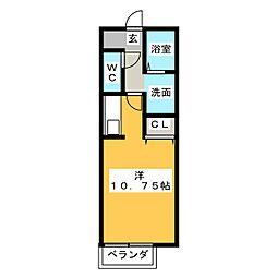 ボナール花の木[1階]の間取り