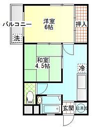 栄町マンション[7A号室]の間取り