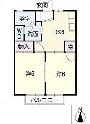 緑3番館[2階]の間取り