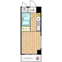 モナークマンション川崎[6階]の間取り