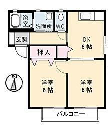 メイプルガーデン[2階]の間取り