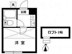 東京都杉並区天沼1の賃貸アパートの間取り