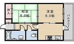 田辺マンション[301号室]の間取り