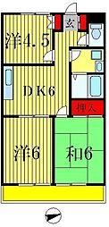 グロリアメゾンタグチ[2階]の間取り