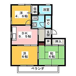 クレールロジュマン B[2階]の間取り