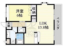 北大阪急行電鉄 緑地公園駅 徒歩16分の賃貸マンション 1階1LDKの間取り
