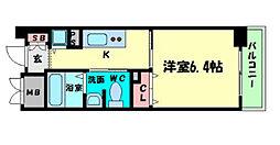 ルナコート江戸堀[6階]の間取り