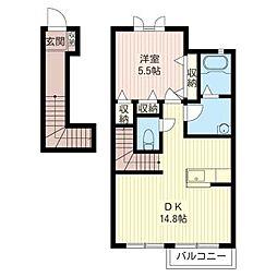 DAITA I[2階]の間取り