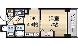 エイペックス新大阪[6階]の間取り