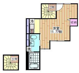 Craft東向島 3階ワンルームの間取り
