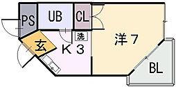 新星ビル上小阪[3階]の間取り