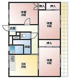 ビレッジハウス五所2号棟[2階]の間取り