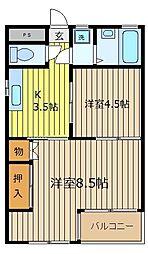 埼玉県志木市本町1丁目の賃貸マンションの間取り