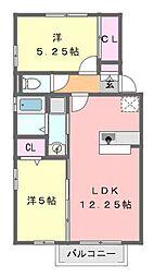 千葉県習志野市屋敷2丁目の賃貸アパートの間取り