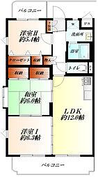 JR高崎線 熊谷駅 バス9分 大幡中学校北バス停下車 徒歩2分の賃貸マンション 5階3LDKの間取り