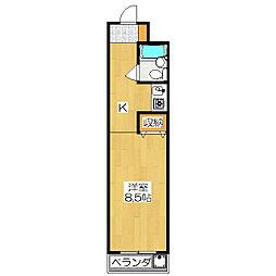 メゾンMUKAIDE[2階]の間取り
