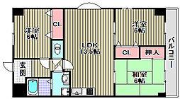 ISE伊勢住宅綾園6502[207号室]の間取り