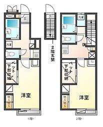 兵庫県姫路市御立中2丁目の賃貸アパートの間取り