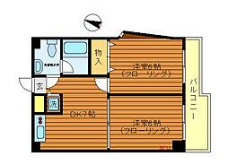 東京都三鷹市井の頭2丁目の賃貸マンションの間取り