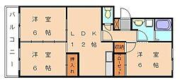 ガーデンハウス[2階]の間取り