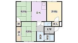 第2江頭ハイツ[4階]の間取り